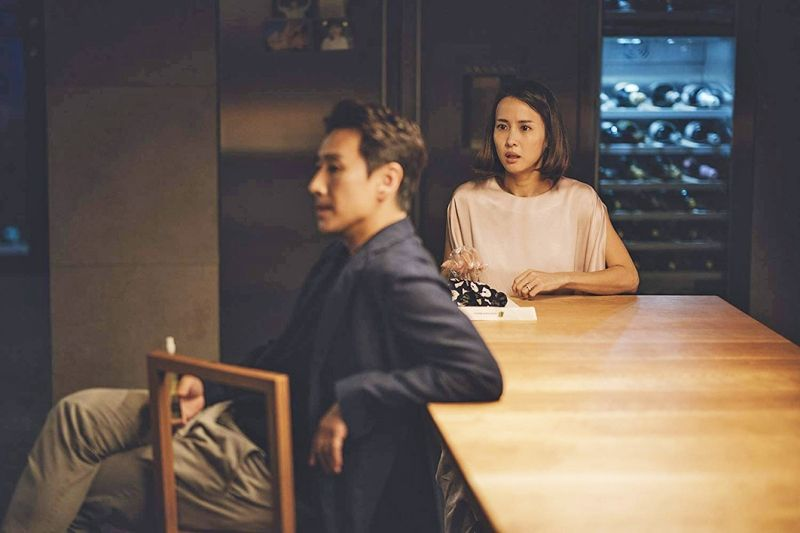 Cho Yeo-jeong in a scene from Parasite (2019)